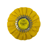 "Zephyr Yellow #4 Fast Cut Medium Heavy Cutting Airway Buffing Wheel 8"" Diameter"
