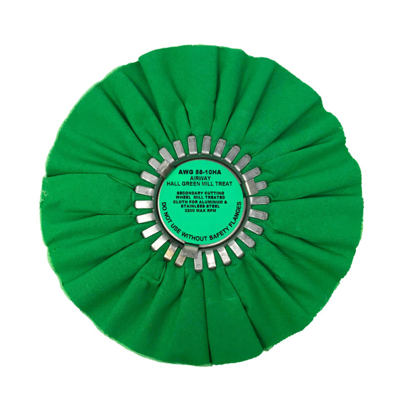 Hall Green Medium Light Cutting Airway Buffing Wheel 10""