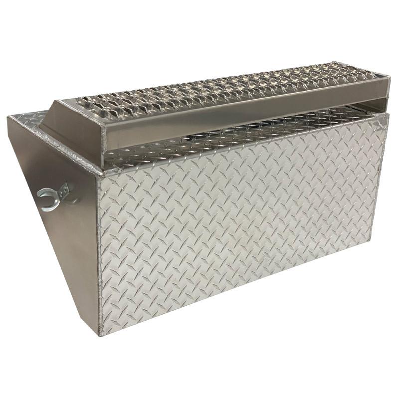 Peterbilt 379 389 Aluminum Diamond Plate Battery Box Lid w/ Top Step