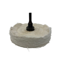 """Zephyr 4"""" Shank Mounted Buffing Wheel 50ply"""