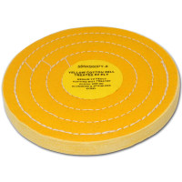 "Zephyr Yellow Cotton 60ply Medium Heavy Cut Buffing Wheel 8"" Diameter"