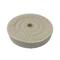 "Zephyr 4"" Cotton Muslin 50ply Final Finish Buffing Wheel"