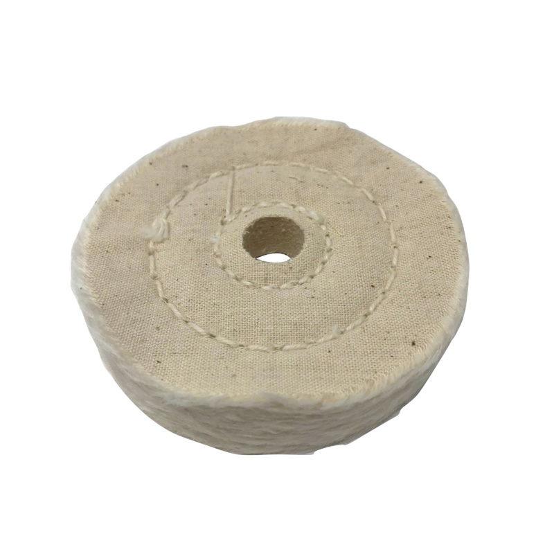 "Zephyr 3"" Cotton Muslin 40ply Final Finish Buffing Wheel"