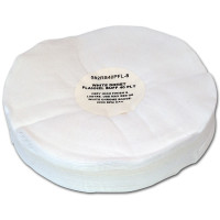 Zephyr White Domet Flannel 40ply Finish Lustre Buffing Wheel