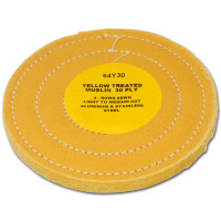 Zephyr Yellow Treated Muslin 30ply 86/80 Light Medium Cut Buffing Wheel