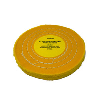 Zephyr Yellow Treated Muslin 40ply 86/80 Light Medium Cut Buffing Wheel