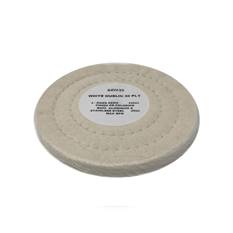 Zephyr White Muslin 30ply 86/80 Final Finish Buffing Wheel