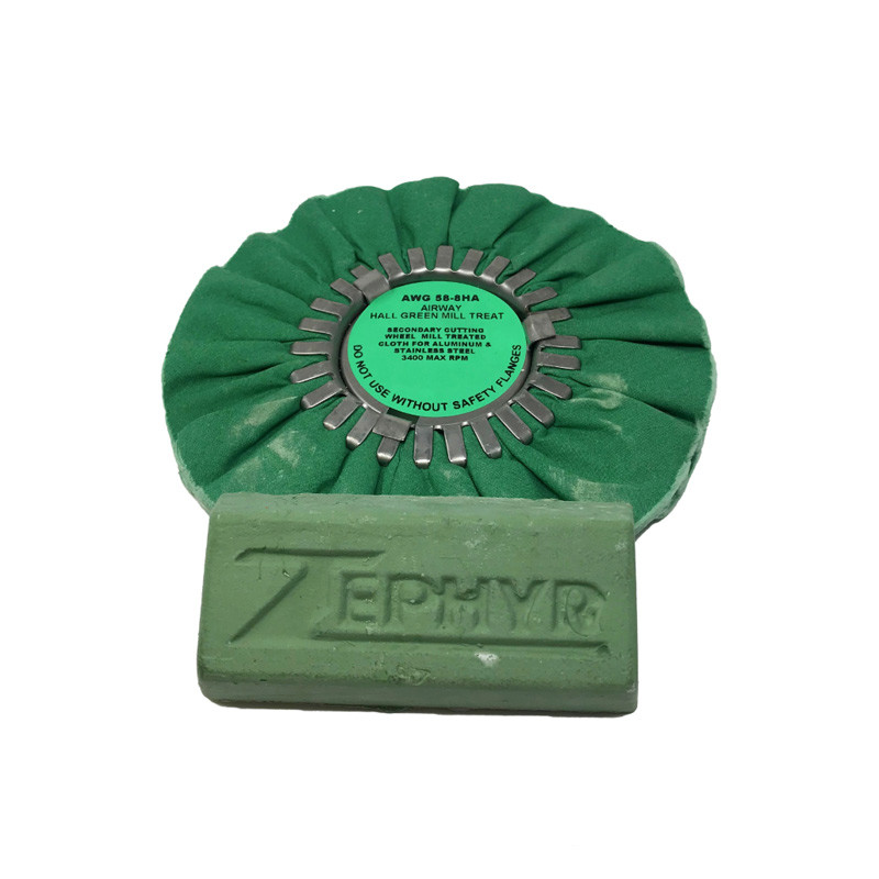 "Zephyr Hall Green 8"" Airway Buff"