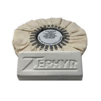"Zephyr White 8"" Airway Buff With White Bar Rouge"
