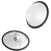 "Convex Wide Angle View Mirror 8 1/2"" Stainless Steel"
