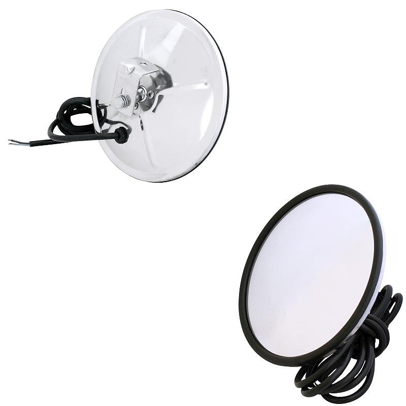 "Convex Heated Mirror 7"" Stainless Steel"