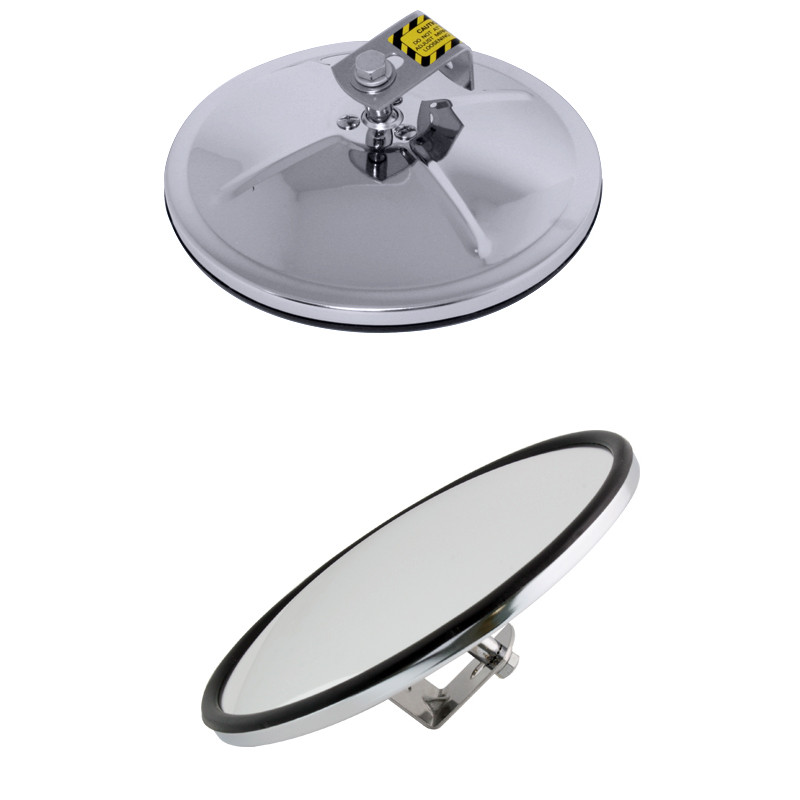 "Convex Spot Mirror 8"" Chrome / Stainless Steel"