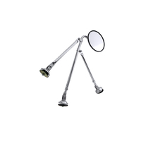 Tripod Fender Mount Convex Safety Mirror Assembly Chrome / Stainless Steel By Grand General