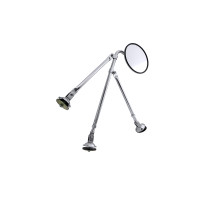 Tripod Fender Mount Convex Chrome Safety Mirror Assembly