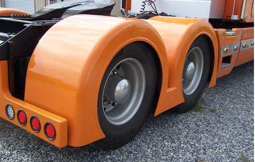 Low Cut Double Hump Rear Fenders Gangsta Style Talladega