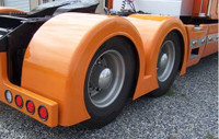Low Cut Double Hump Rear Fenders Gangsta Style Talladega Fiberglass