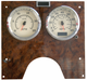 International Chrome Speed/Tachometer Gauge Cover Front View