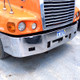 "Freightliner Chrome 16"" Bumper with fog light holes close up"