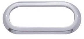 Oval stainless steel bezel