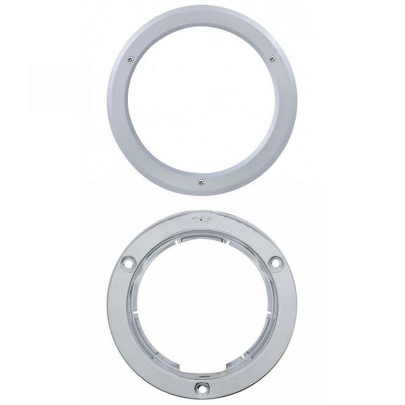 """4"""" Round Stainless Steel Bezel"""