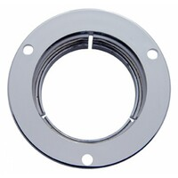 Round Chrome Plastic Mounting Bezel Security Flange
