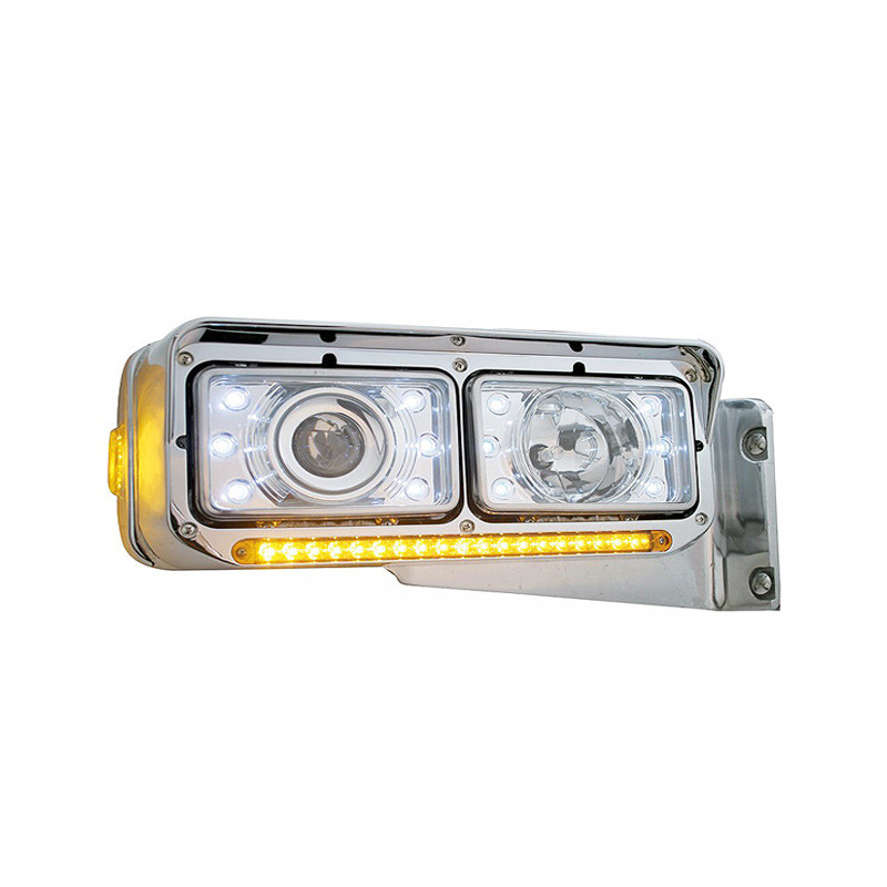 Rectangular Headlights LED 165mm Crystal Projection
