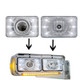 "Rectangular Headlights LED 165mm Crystal Projection 6"" x 4"""