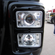 "Rectangular Headlights LED 165mm Crystal Projection 6"" x 4"" On Truck"