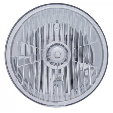 7 Quot Round Crystal Headlight With Sylvania Halogen Bulb