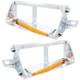 14 LED Freightliner FLD Headlight Bezel - Amber LED/Amber Lens