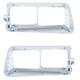 14 LED Freightliner FLD Headlight Bezel - Amber LED/Clear Lens