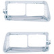 14 LED Freightliner FLD Headlight Bezel - Amber LED/Chrome Lens