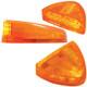 Peterbilt Low Profile Turn Signal Light Amber Lens