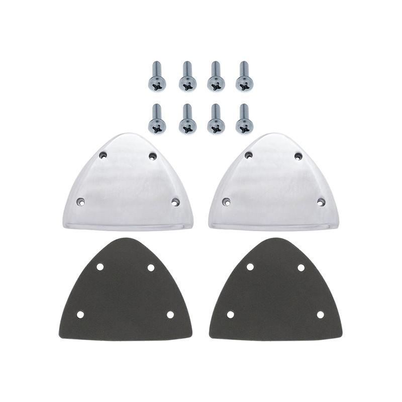 Peterbilt Aluminum Headlight Turn Signal Cover Full Kit