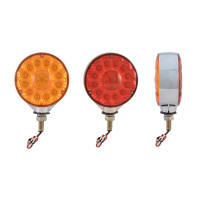 Super Diode Double Face Combination LED Amber/Red Lens