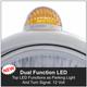 Chrome Guide Headlight Amber Top LED