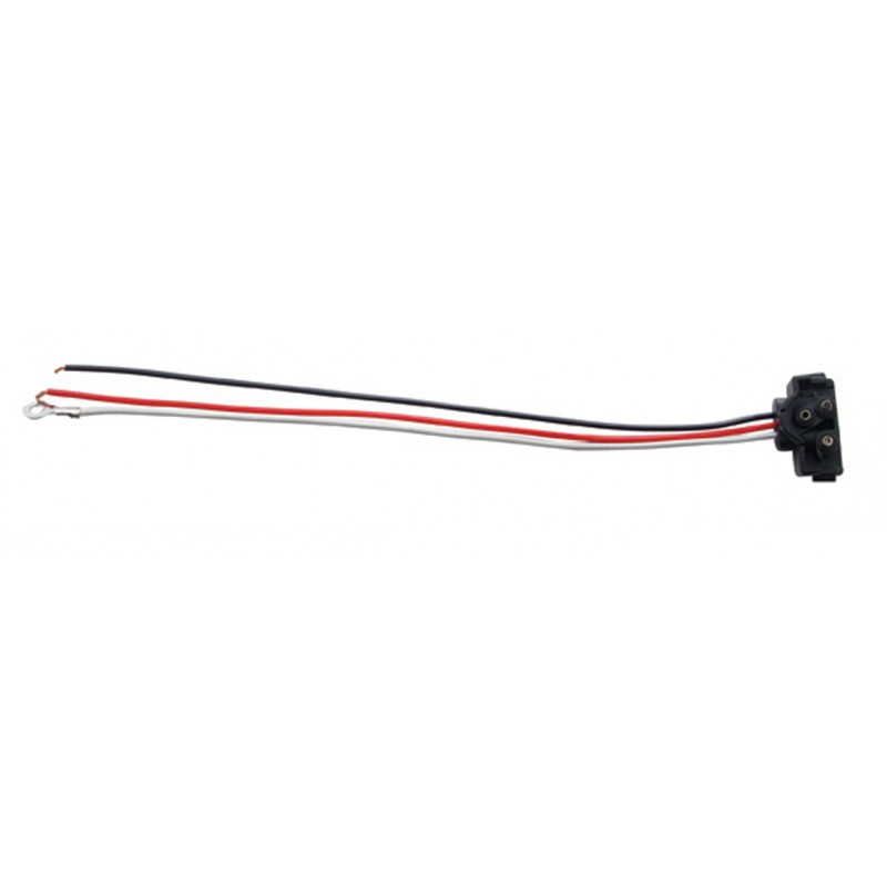 "Right Angle 3-Pin Wire Stop Turn Tail Plug 10"" Leads"