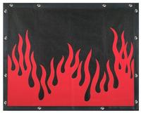 Kenworth W900L Extended Hood Flame Bug Screen