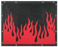 Peterbilt 377 378 379 Flame Bug Screen