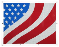 Peterbilt 377 378 379 American Flag Bug Screen