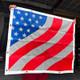 Kenworth W900L Extended Hood American Flag Bug Screen - Hanging