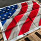 Freightliner FLD 120 Classic 1996+ American Flag Bug Screen - Flat