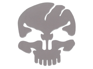 Stainless Steel Skull Cut Out