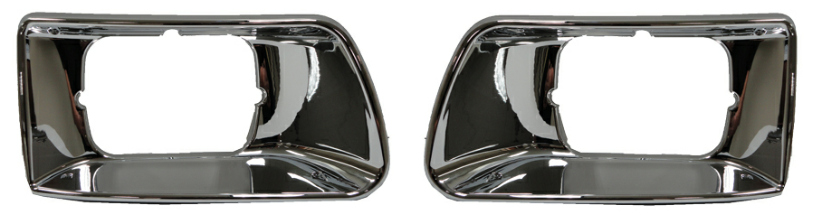 Kenworth T300 Chrome Headlight Bezel Trim Headlamp Bucket