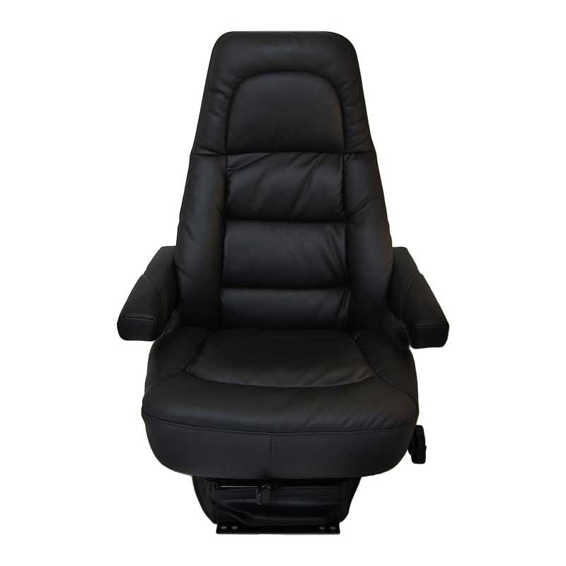 Bostrom Low Profile Wide Ride High Back Black Ultra Leather Seat Front