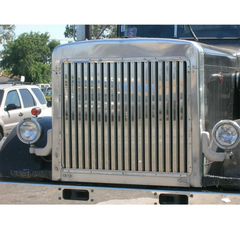 Grill Guards For 379 Peterbilt S : Peterbilt long hood grill with vertical bars