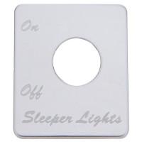 Peterbilt Stainless Steel Sleeper Light Switch Plate