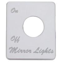 Peterbilt Stainless Steel Mirror Light Switch Plate
