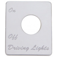 Peterbilt Stainless Steel Driving Light Switch Plate