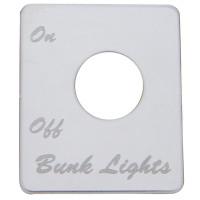 Peterbilt Stainless Steel Bunk Light Switch Plate